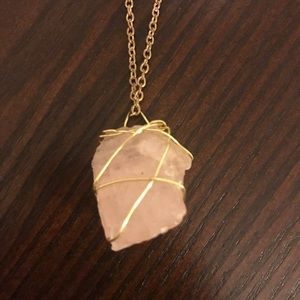 Jewelry - Rose Quartz Raw Stone Necklace